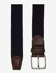 GANT - ELASTIC BRAID BELT - braided belts - marine - 1