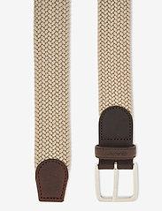 GANT - ELASTIC BRAID BELT - braided belts - putty - 1