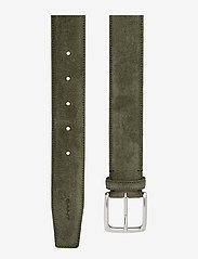 GANT - CLASSIC SUEDE BELT - belts - dark cactus - 1