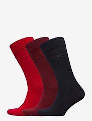 GANT - 3-PACK SOFT COTTON SOCKS - chaussettes régulières - bright red - 0