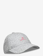 GANT - MELTON CAP - caps - dark grey melange - 0