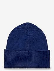 GANT - D1. MEDIUM SHIELD RIB BEANIE - hats - strong blue - 1