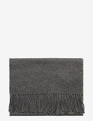 GANT - SOLID WOOL SCARF - scarves - charcoal melange - 2