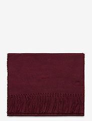 GANT - SOLID WOOL SCARF - scarves - port red - 1