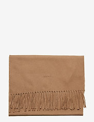 GANT - SOLID WOOL SCARF - scarves - warm khaki - 2