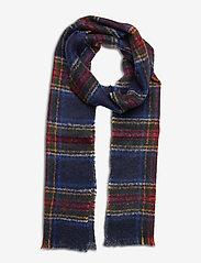 GANT - D1. TARTAN MOHAIR WOOL SCARF - scarves - navy - 0