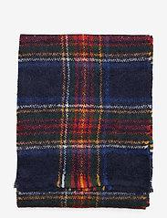 GANT - D1. TARTAN MOHAIR WOOL SCARF - scarves - navy - 1