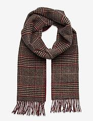 GANT - D1. GLENCHECK WOOL SCARF - scarves - port red - 0