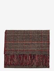 GANT - D1. GLENCHECK WOOL SCARF - scarves - port red - 1