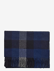 GANT - D2. MULTI CHECK WOOL SCARF - scarves - crisp blue - 1