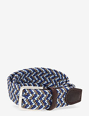 GANT - D1. PATTERNED ELASTIC BRAID BELT - paski plecione - crisp blue - 0