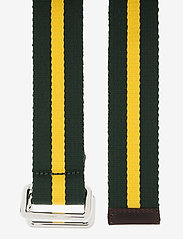 GANT - D1. RUGBY STRIPE WEBBING BELT - belts - kelly green - 1