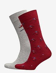 GANT - O1. 2-PACK APRES SKI GIFT BOX - chaussettes régulières - mahogny red - 0