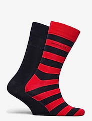 GANT - 2-PACK BARSTRIPE AND SOLID SOCKS - regular socks - bright red - 1
