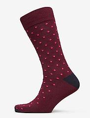 GANT - D1. CONTRAST DOT SOCKS 1-PACK - regular socks - port red - 0