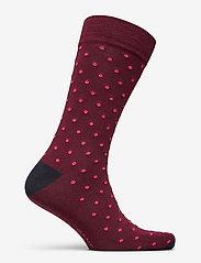 GANT - D1. CONTRAST DOT SOCKS 1-PACK - regular socks - port red - 1