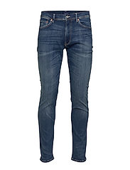 D1. SLIM ACTIVE-RECOVER JEANS - DARK BLUE BROKEN IN