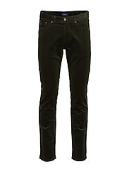 D1. SLIM CORD JEANS - MOSS GREEN