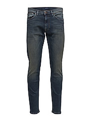 O2. TAPERED MEDITERRANEAN JEANS - MID BLUE WORN IN