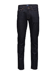 SLIM STRAIGHT GANT JEAN - DARK BLUE