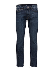 SLIM GANT JEANS - DARK BLUE WORN IN