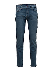 SLIM GANT JEANS - MID BLUE WORN IN