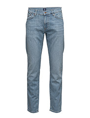 SLIM GANT JEANS - SEMI LIGHT INDIGO WORN IN