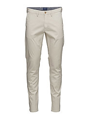 O1. SLIM TWILL CHINO - PUTTY