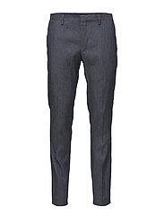 G1.TAILORED SLIM STRETCH LINEN PANT - MARINE