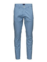 O2. SLIM SUNBLEACHED CHINO - LAVA BLUE