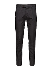 O3.TAILORED SLIM WOOL LOOK SLACKS - GRAPHITE