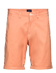 D2. REGULAR SUNFADED SHORTS - PALE CORAL