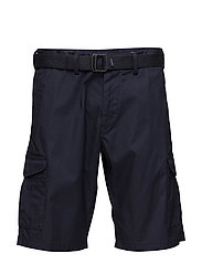 O2.TP RELAXED BELTED UTILITY SHORTS - CLASSIC BLUE