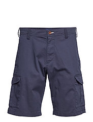 D1. RELAXED TWILL UTILITY SHORTS - MARINE