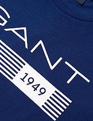 GANT - D1. 13 STRIPES SS T-SHIRT - short-sleeved t-shirts - crisp blue - 2