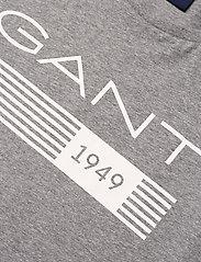 GANT - D1. 13 STRIPES SS T-SHIRT - short-sleeved t-shirts - grey melange - 2