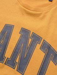 GANT - MD. FALL SS T-SHIRT - short-sleeved t-shirts - ivy gold - 2