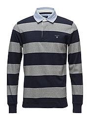 OP2. STRIPED HEAVY RUGGER - GREY MELANGE