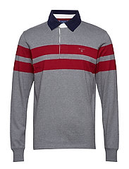 O2. CHEST STRIPE HEAVY RUGGER - DARK GREY MELANGE
