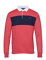 O1. CHEST STRIPE HEAVY RUGGER - CARDINAL RED