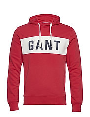 MD. THE SUMMER LOGO SWEAT HOODIE - BRIGHT RED