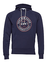 O1. GANT SINCE 1949 SWEAT HOODIE - EVENING BLUE