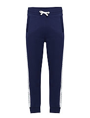 O1. GANT ARCHIVE STRIPE SWEAT PANT - EVENING BLUE