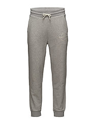 OP2. GRAPHIC EMB SWEAT PANTS - LIGHT GREY MELANGE