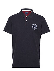 D1. GRAPHIC SS RUGGER - DARK NAVY MELANGE