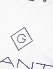 GANT - LOCK UP SS T-SHIRT - short-sleeved t-shirts - white - 2