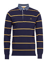 D2. BRETON STRIPE HEAVY RUGGER - EVENING BLUE
