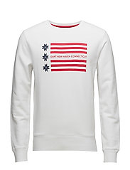 OP1. AMERICAN FLAG C-NECK SWEAT - WHITE