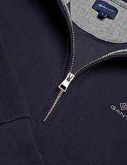 GANT - D2. STRUCTURE HALF ZIP - basic sweatshirts - evening blue - 2