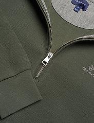 GANT - D2. STRUCTURE HALF ZIP - basic sweatshirts - thyme green - 2